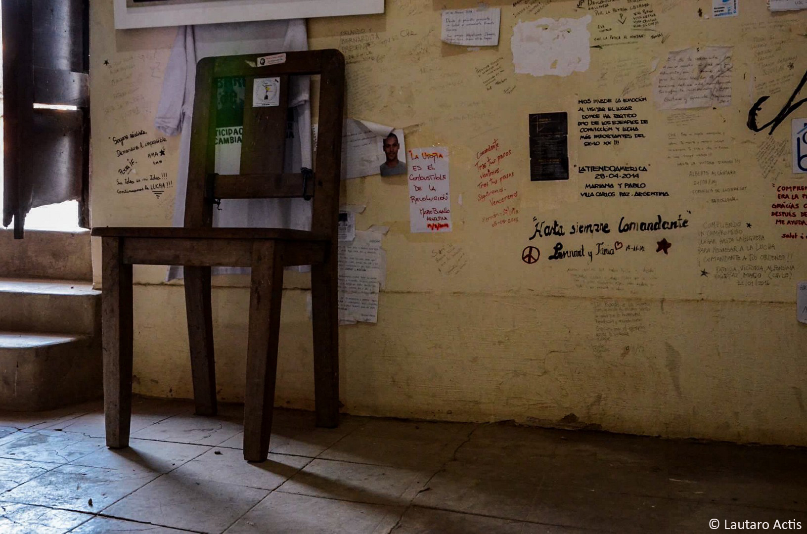 La silla donde estaba sentado el Che minutos antes de ser fusilado ©